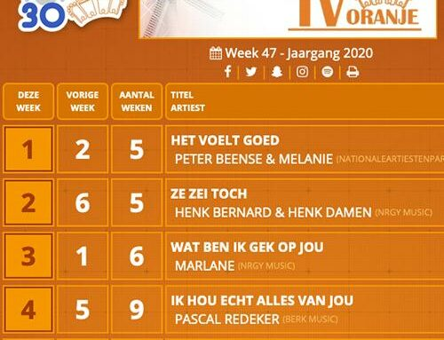Peter & Melanie Beense op NR 1 in de Oranje TOP 30